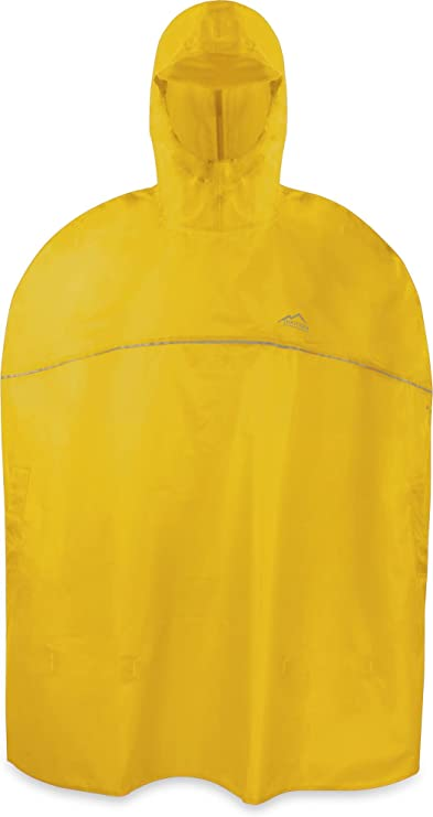 normani Outdoor Sports Kinder Regenponcho für Jungen und Mädchen mit Kapuze und 3M™ Scotchlite™ Reflektoren