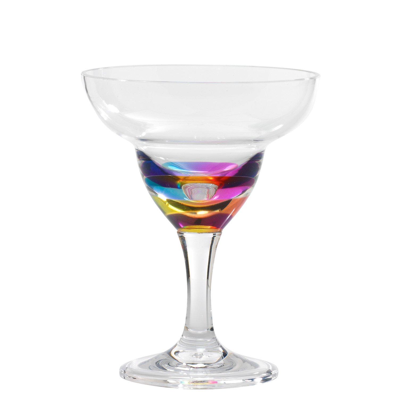11 Oz Ranbow Jewel Acrylic Margarita Glass by Merritt International 21740