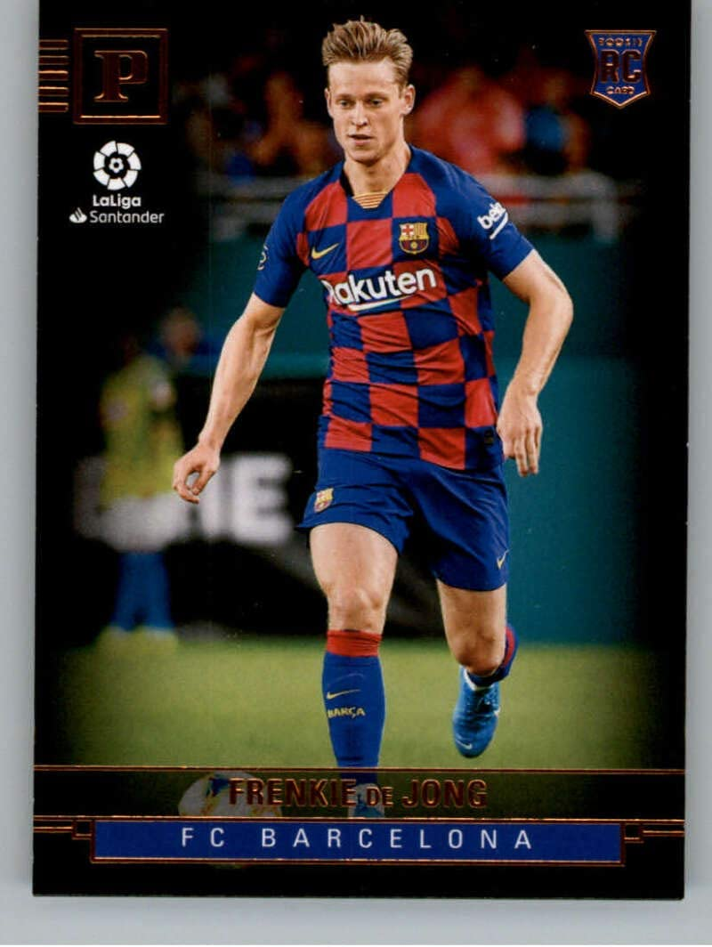 Amazon Com 2019 20 Panini Chronicles Panini Soccer 423 Frenkie De Jong Fc Barcelona Official La Liga Trading Card From Panini America Collectibles Fine Art