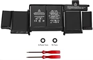 "POWERWOO New Laptop Battery A1582 for 2015 MacBook Pro 13"" ME864 ME865; A1493(2013 2014 Version) Battery for A1502 with 2 Screwdrivers [6600mAh/ 11.36V /74.9Wh]"
