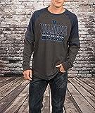 Notre Dame Fighting Irish Men's Charcoal Hybrid Raglan Long Sleeve T Shirt (X-Large)