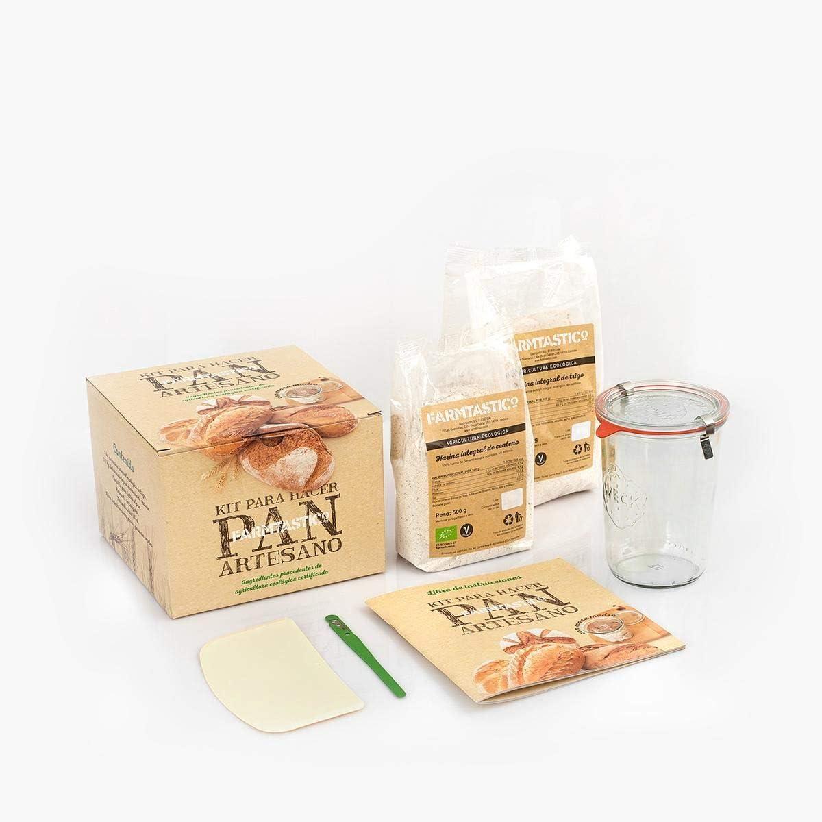 Farmtastico - Kit Para Hacer Pan Ecológico Farmtastico Con Masa Madre - -5% En Libros: Amazon.es: Alimentación y bebidas