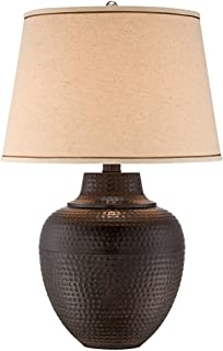 Bentley brown leaf hammered pot table lamp amazon brighton hammered pot bronze table lamp aloadofball Choice Image