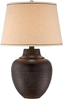 Brighton Hammered Pot Bronze Table Lamp