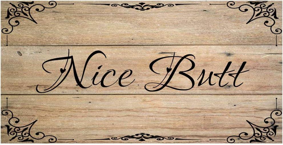 Original Retro Design Nice Butt Tin Metal Signs Wall Art | Thick Tinplate Print Poster Wall Decoration for Bathroom