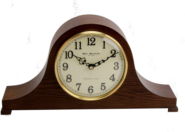 Mesa de madera de caoba Napoleón reloj de mesa árabe Dial & Chimes ...
