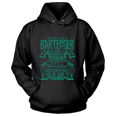 37abbf60b Amazon.com: I Not Just A Bartender Hoodies, I'm A Big Cup of Wonderful T  Shirt: Clothing