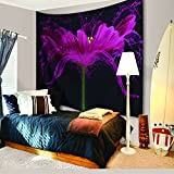 Green Nature Tapestry Decor By IMEI, Wild and Free Trees Wall Hanging Tapestry Bedspread Dorm Accessories Decor Beach Throw (80 X 60 Inch, Floral Rose with Love)