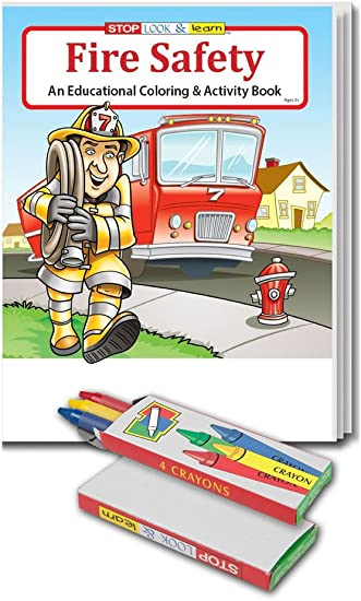 Amazon.com: Fire Safety - Kid\'s Coloring & Activity Books ...
