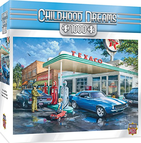 MasterPieces Childhood Dreams Pop's Quick Stop - Getting Gas 1000 Piece Jigsaw Puzzle by Dan Hatala from MasterPieces