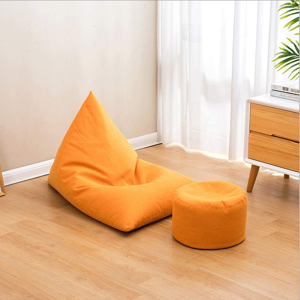 A1 Small Boat Type Bean Bag, Household Lazy Bean Bag Chair Combination, Removable Cotton and Linen EPS Granules, with Pedal (color   A1, Size   Small)