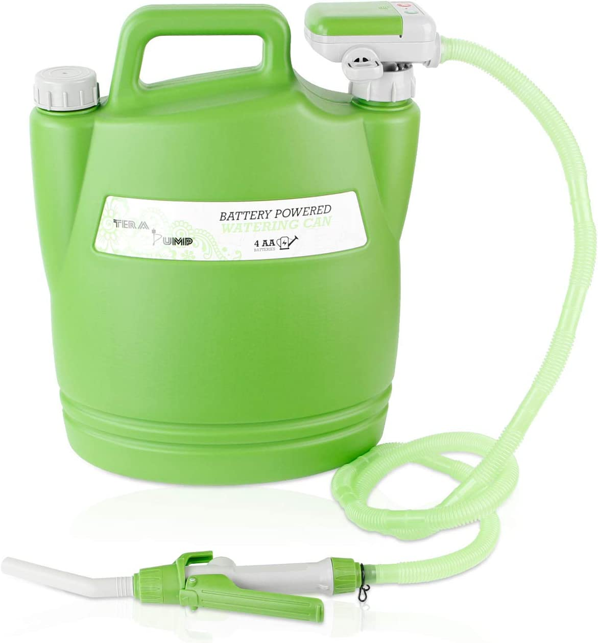 TERA PUMP - Save Your Back - No More Watering Can Lifting/Electric Water Transfer Pump for Watering Your Garden (Large Hose)