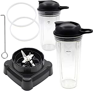Joyparts Replacement Parts New Blade with cup and Lid,Compatible with Ninja Blender NJ600 BL700,BL701WM 30,BL701 30