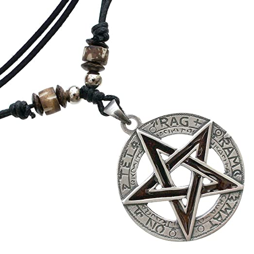 Amazon tetragrammaton yhwh pentacle pentagram star pewter tetragrammaton yhwh pentacle pentagram star pewter pendant handmade adjustable necklace aloadofball Choice Image