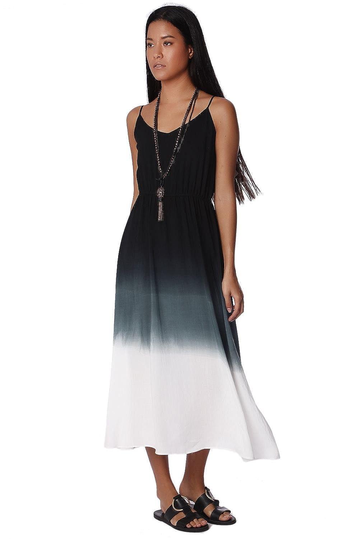 Q2 Women's Gray gradient dye cami maxi dress