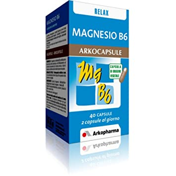 Arkopharma B6 Magnesium Dietary Supplement 40 Capsules