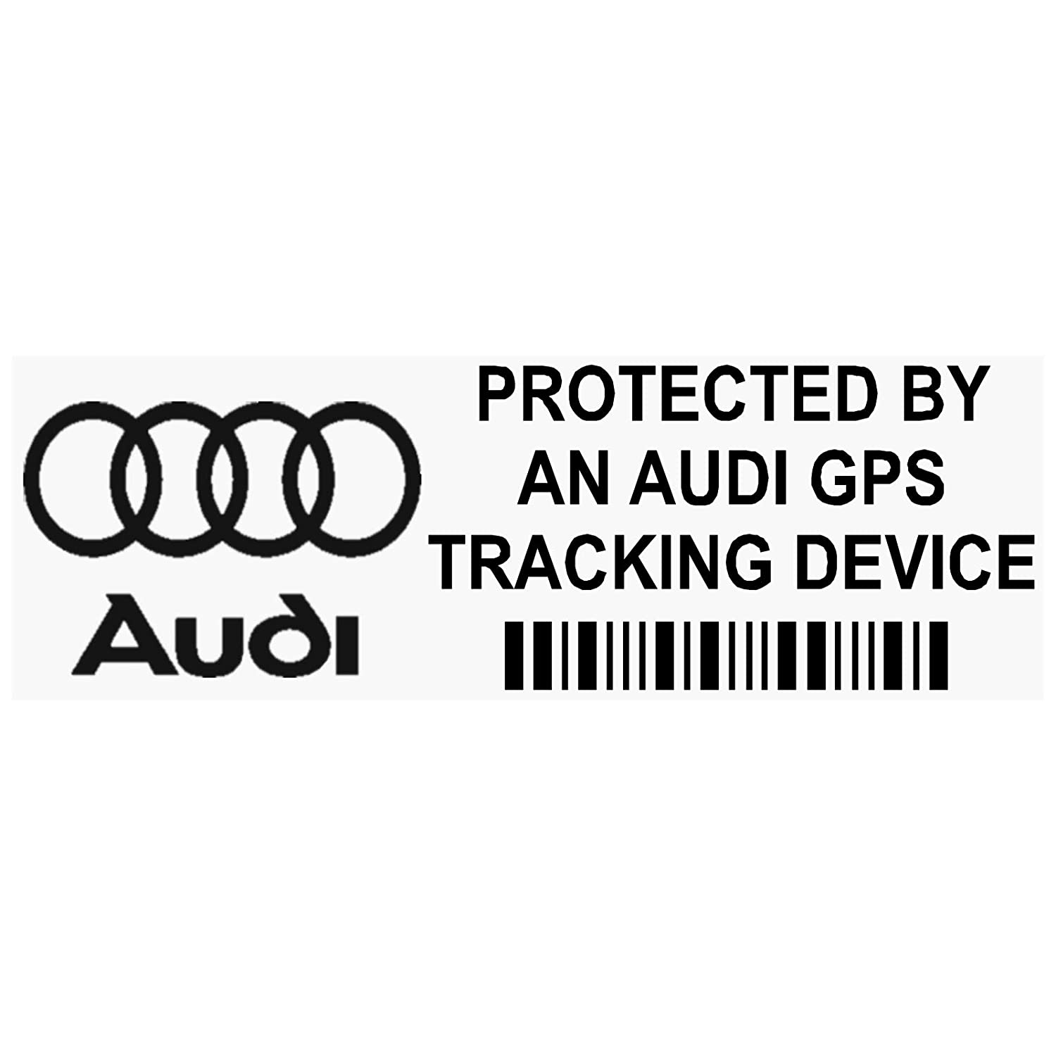 Platinum Place 5 x PPAUDIGPSBLK GPS BLACK Tracking Device Security WINDOW Stickers 87x30mm-Car, Van Alarm Tracker