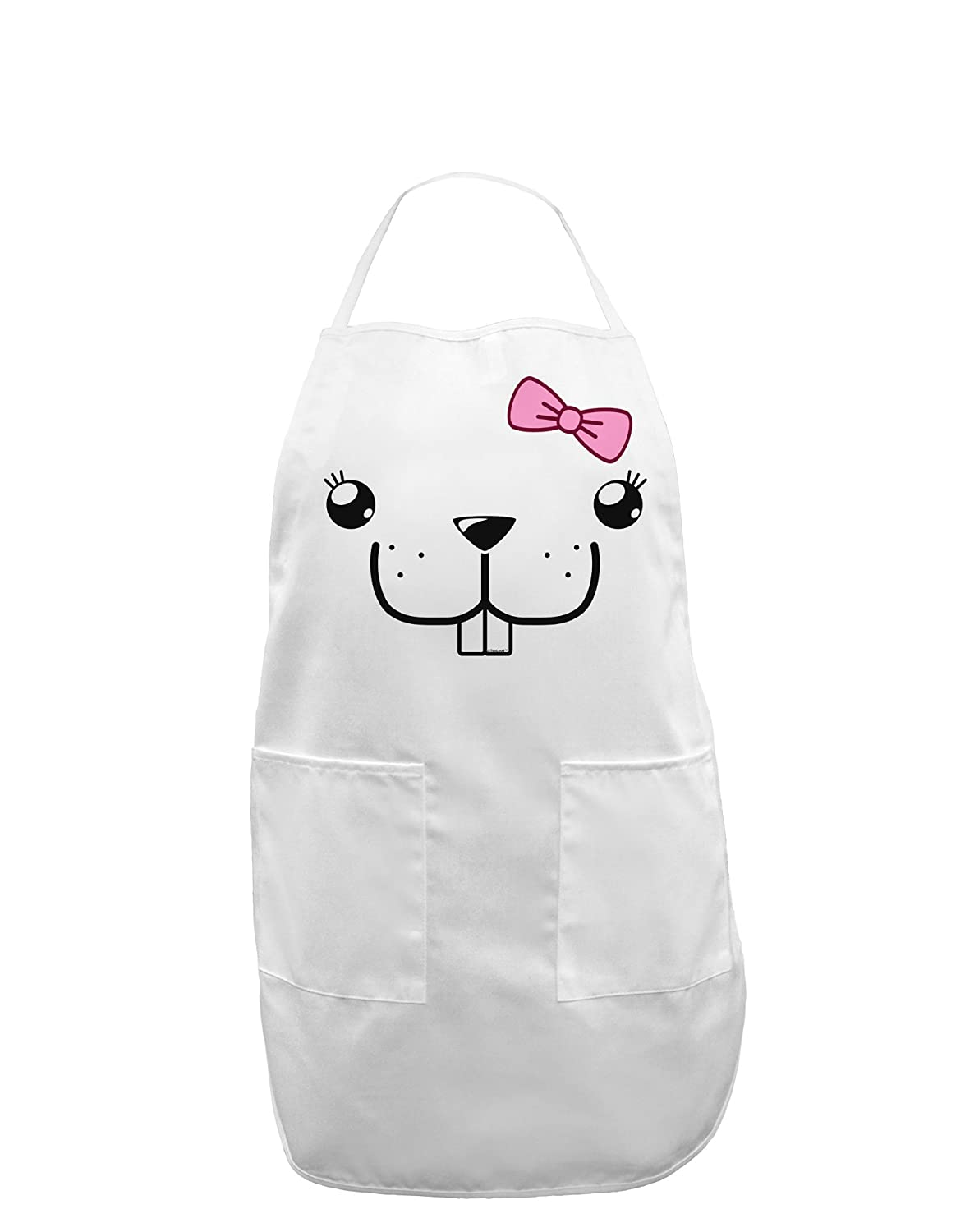 Bucklette Cute Girl Beaver Adult Apron Kyu-T Face