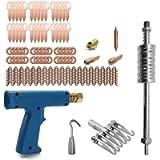 KKmoon 77pcs Stud Welder Dent Repairing Kit Pulling Claw Shrinking Welder Machine Slide Hammer Puller Straight Rull…