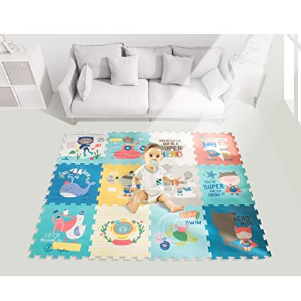 Cute Animal EVA Foam Play Mats Floor Puzzle Crawling | Alfombra de ...
