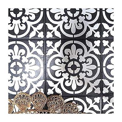 VALENCIA AZULEJO Mobiliario Muro Piso Plantilla para pintar - X Pequeño
