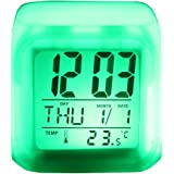 SIS 7-Colour LED Changing Digital Alarm Clock with snooze,music and Large Display