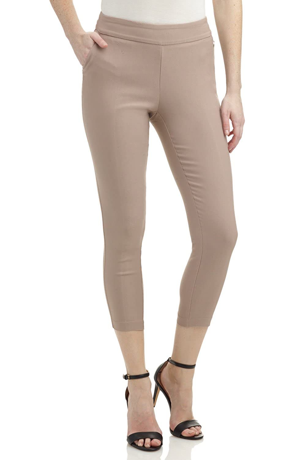 Rekucci Womens Ease in to Comfort Fit Essential Slim 7//8 Pant