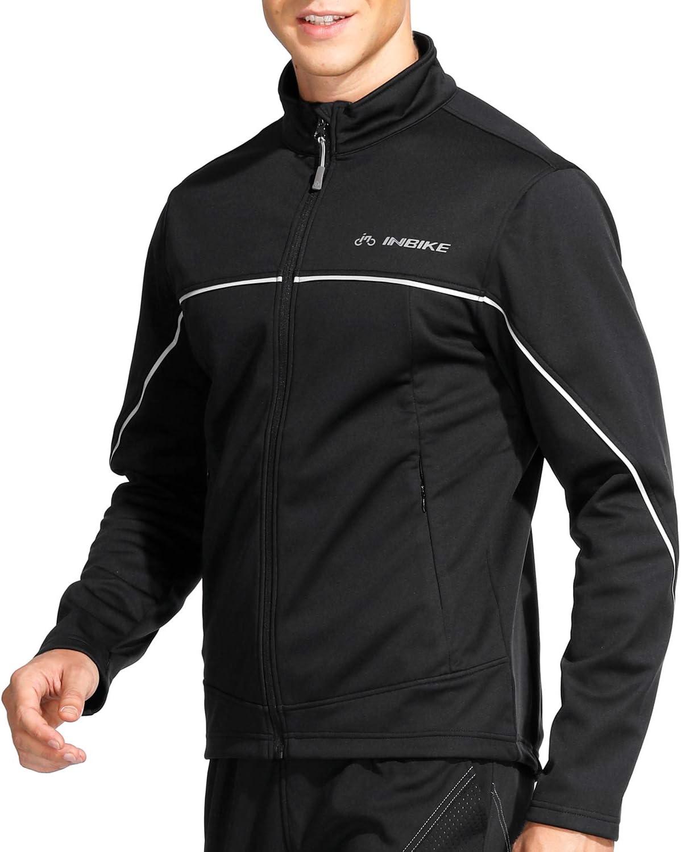 INBIKE Veste Cyclisme pour VTT Velo Homme Hiver Vestes Thermique Imperm/éable Coupe-Vent Sportwear