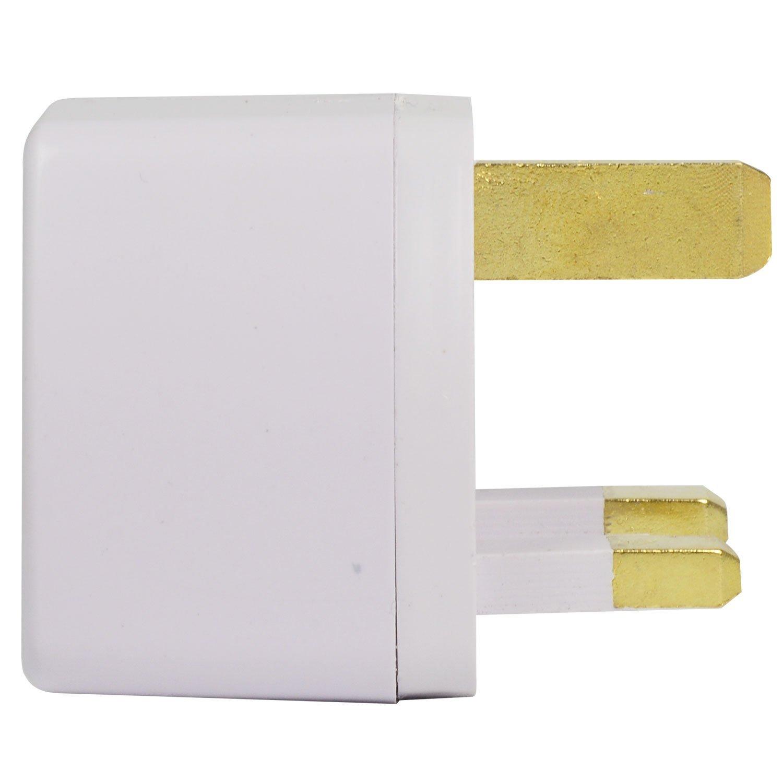 AC 250V 13 Color: Blanco con material de ABS para conexi/ón universal 6X MENGS/® adaptador de enchufe de viaje para el Reino Unido Inglaterra Reino Unido 3 clavija
