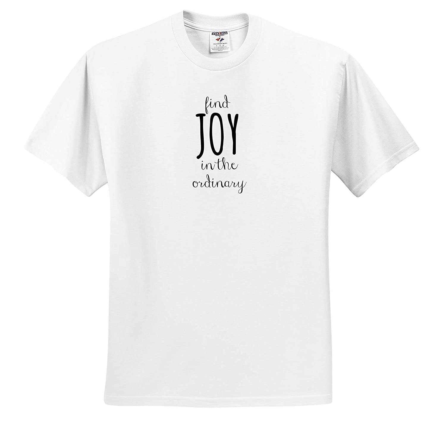 Image of Find Joy in The Ordinary Quote ts/_316883 3dRose Gabriella-Quote Adult T-Shirt XL