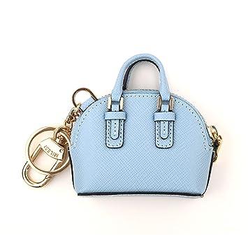 MXD Llavero azul pequeño bolso de concha colgante creativo ...