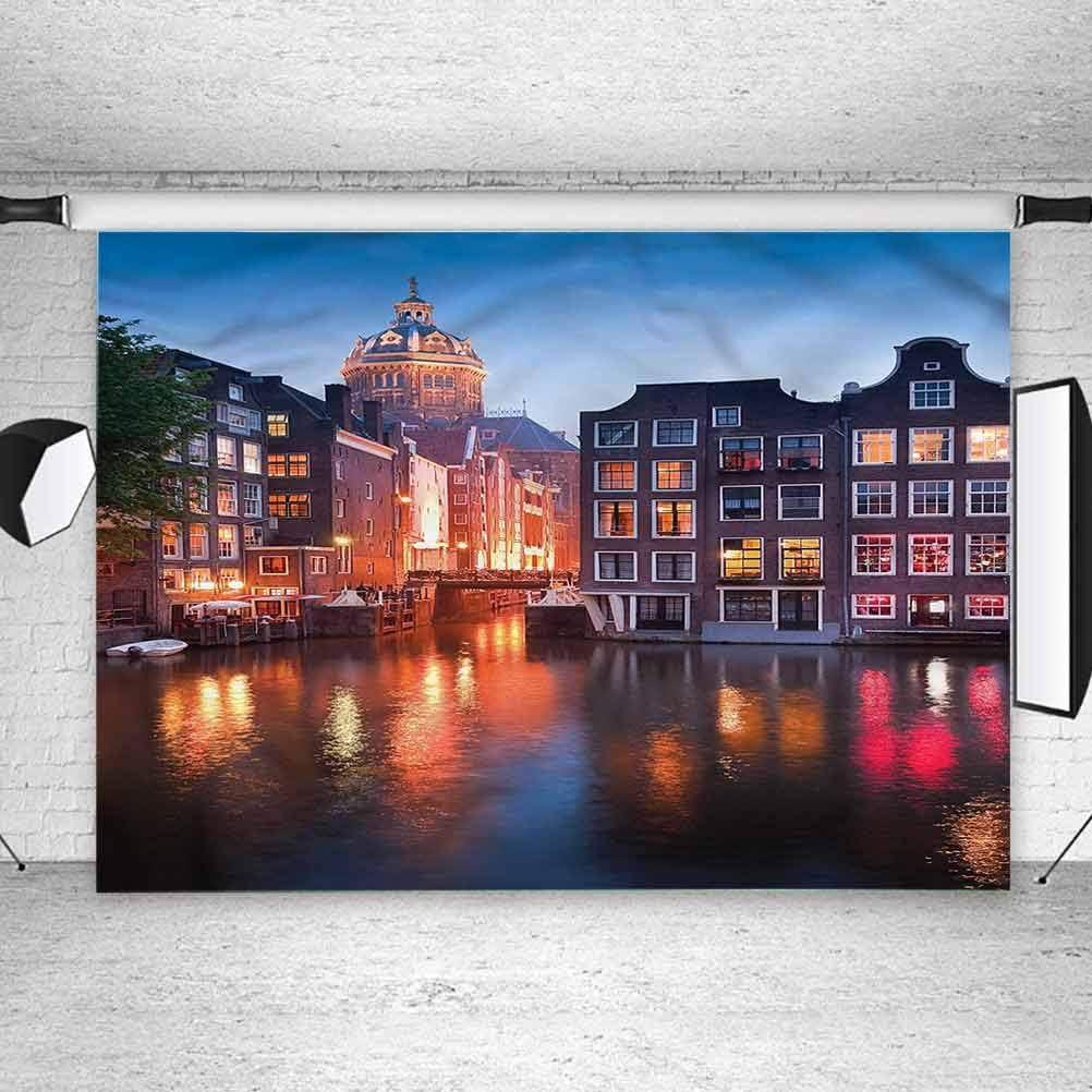 5x5FT Vinyl Photo Backdrops,Wanderlust,St Nicholas Amsterdam Photo Background for Photo Booth Studio Props