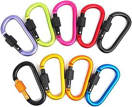 Camping Keychain Belt Clip Carabina Buckle Safety Climbing Key Ring