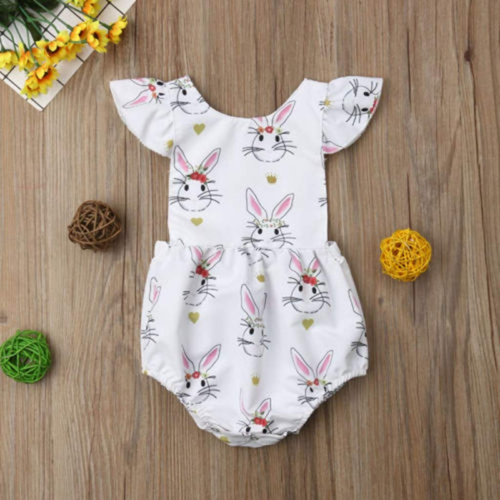 B Bone Lovely Newborn Infant One-Piece Toddler Baby Girl Rompers Jumpsuit Clothing Outfits