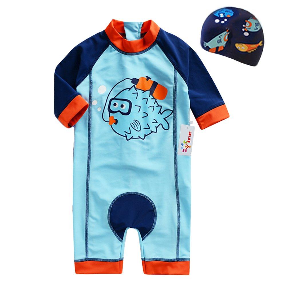 height 80-130cm Baby 3 Pieces Swimsuits Swim Trunks T-shirt Swimwears