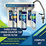 3 Stage Water Filter System Under-Sink Three Stages Water Filter System