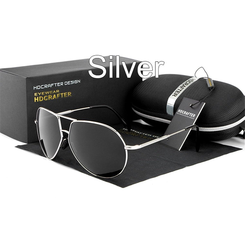 Lnabni Klassische Pilotensonnenbrille der Herren polarisierte Outdoor-Sportbrillen Fahren Brillen 100% UV-Schutz