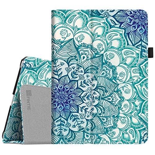 Fintie iPad 9.7 2018 / 2017, iPad Air 2, iPad Air Case - [Corner Protection] Premium Vegan Leather Folio Stand Cover, Auto Wake / Sleep for Apple iPad 6th / 5th Gen, iPad Air 1 / 2, Emerald Illusions