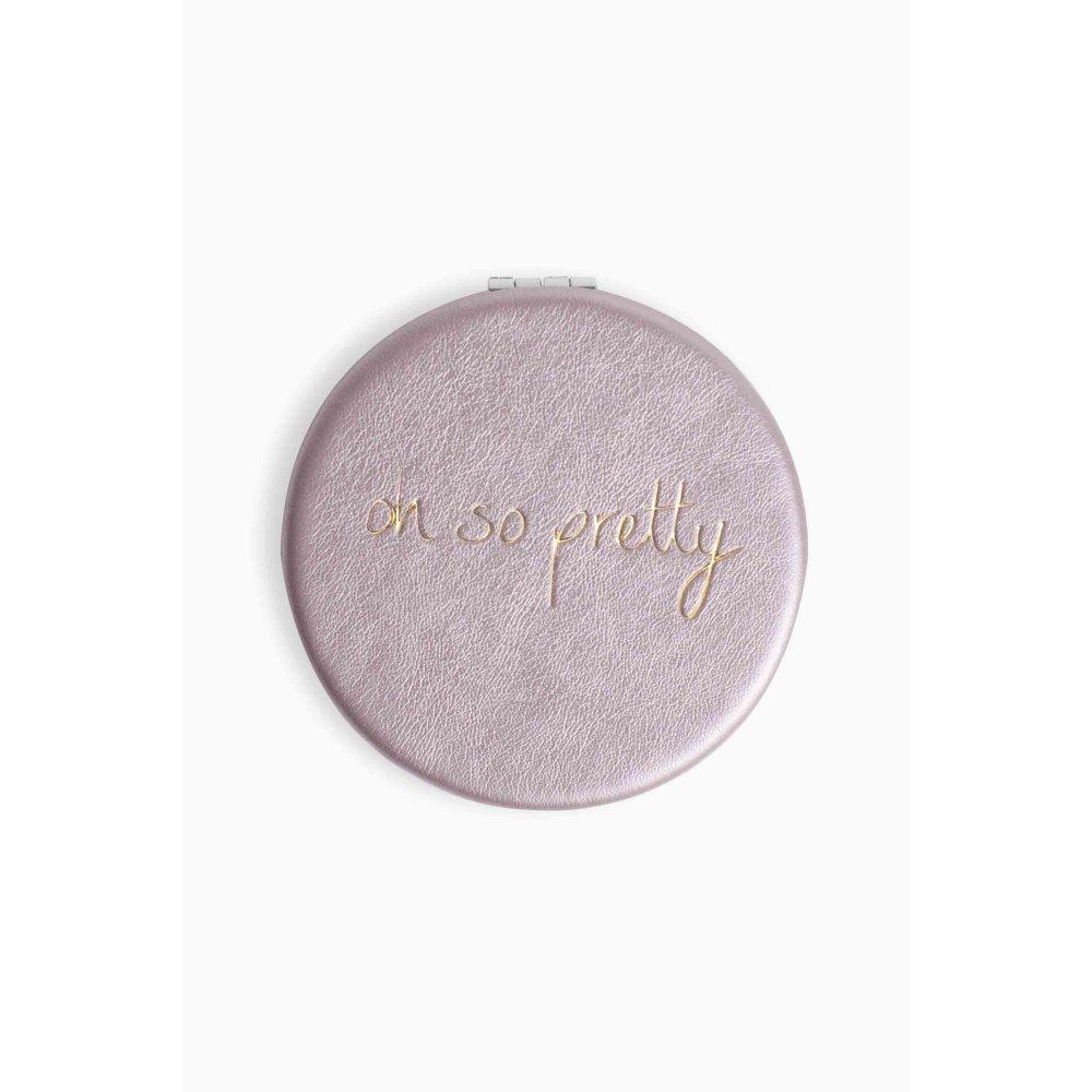 "Katie Loxton Compact Mirror - ""Oh So Pretty"" Metallic Pink Joma Jewellery"