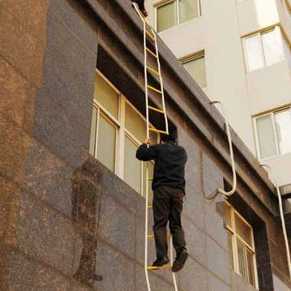3 m Escape de Ventana y balc/ón Baiansy Escalera de Emergencia para Escape Escalera de Emergencia con Gancho para ni/ños y Adultos Azul Resistente al Fuego