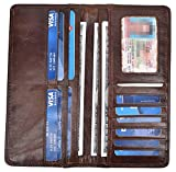 Yeeasy Men's Vintage Genuine Leather Long Wallets Bifold Wallet For Men (Coffee)