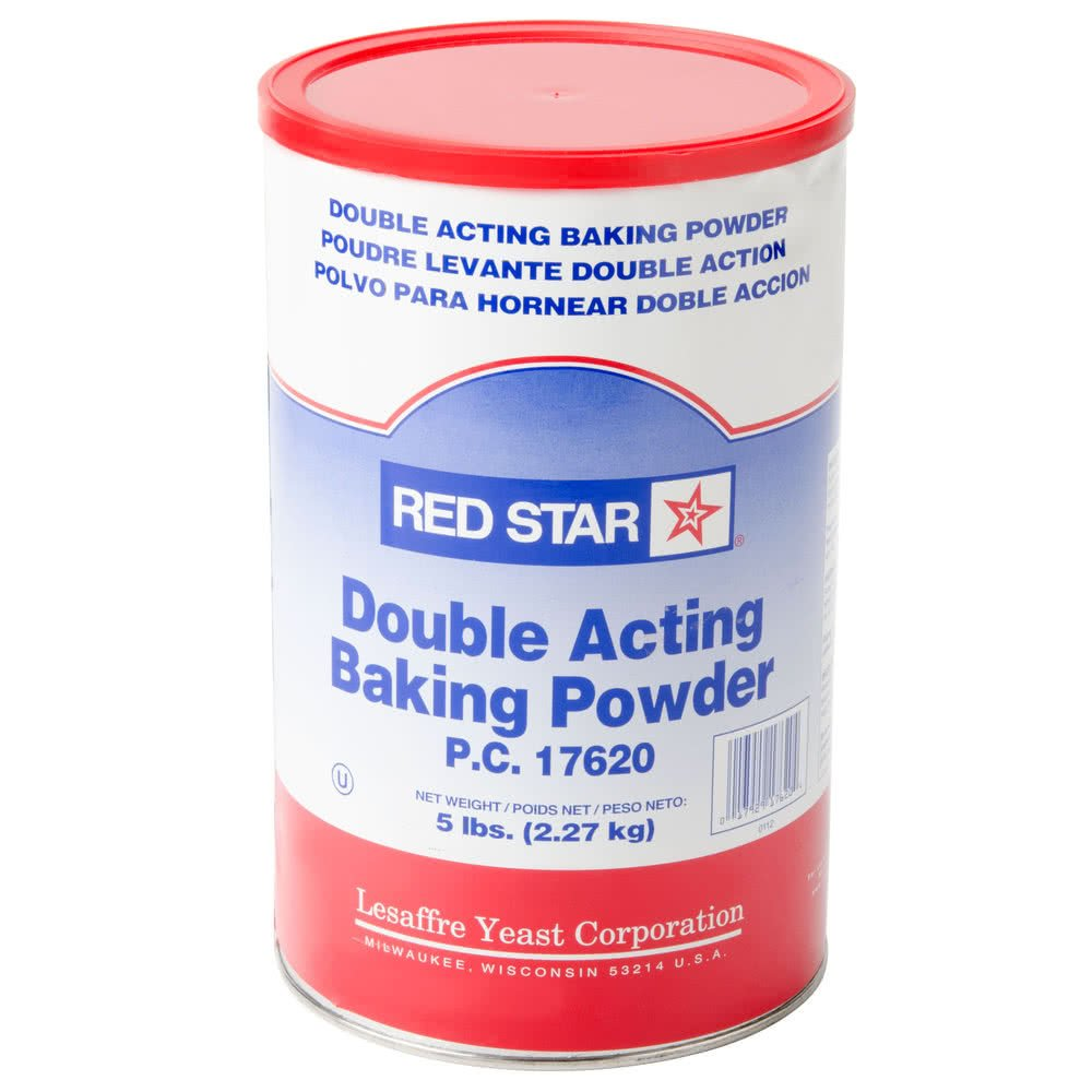TableTop King Double Acting Baking Powder 5 lb. Canister - 6/Case