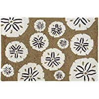 C&F Home Hooked Sand Dollar Coastal Rug, Natural