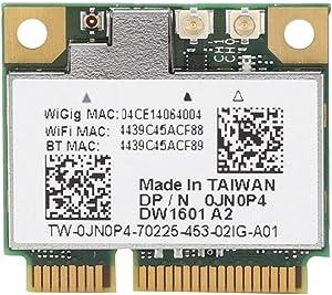 Sanpyl Mini PCI-E Bluetooth Network Card, 2.4/5G QCA9005 802.11AD Bluetooth 4.0 Wigig 7Gbps Wireless Network Card for Dell 6430u E5440 E7440