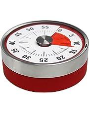 Mechanischer und Magnetisch Küchentimer, 60 Minuten Countdown Kurzzeitmesser, Analog Kurzzeitwecker für Küche / Kochen / Backen / Sport / Büro (Rot)