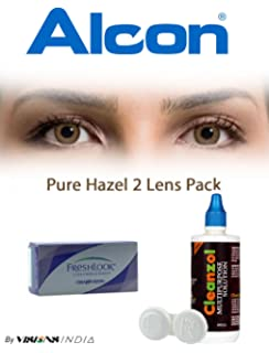 buy freshlook one day color pure hazel powerless 10 lens pack