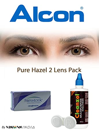 229b035f4b5 Buy Freshlook Colorblends (2 Lenses Box) Pure Hazel Monthly Online at Low  Prices in India - Amazon.in