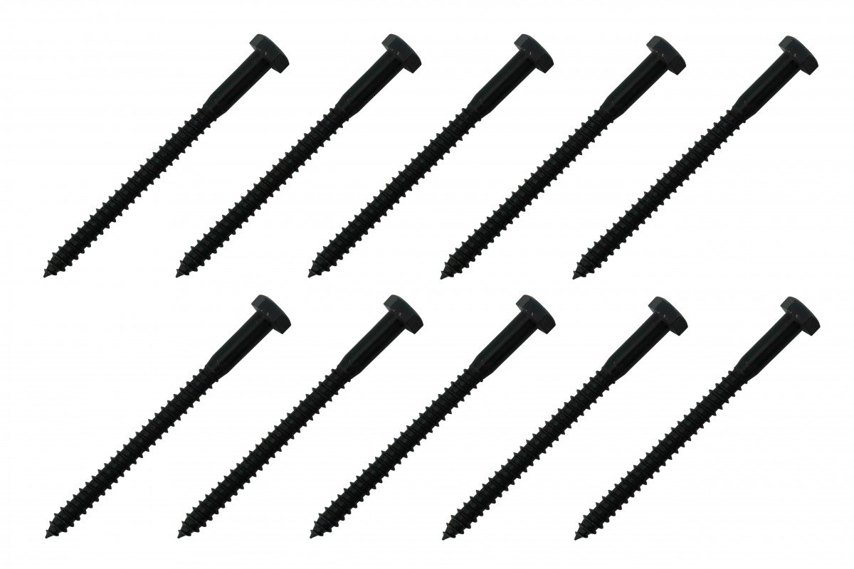 5/16'' X 4'' Lag Bolt Black Zinc 10 Pack Renovator's Supply by Renovators Supply Manufacturing