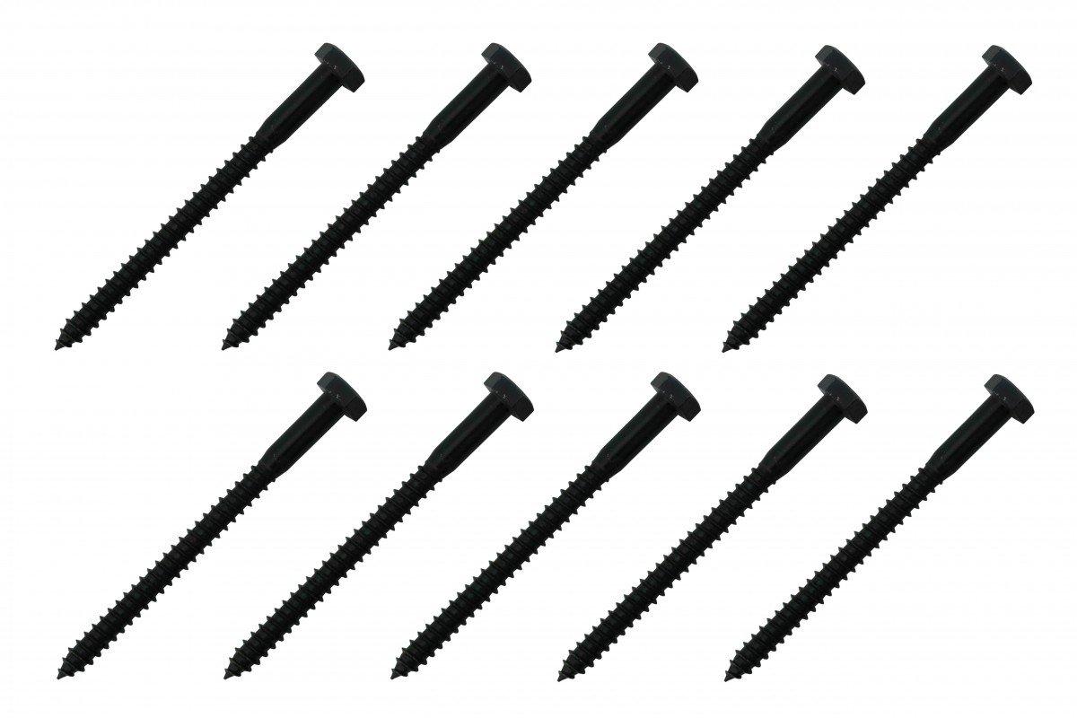 5/16'' X 4'' Lag Bolt Black Zinc 10 Pack Renovator's Supply