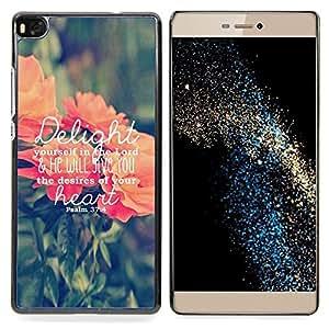 "For Huawei Ascend P8 (Not for P8 Lite) Case , Delicias texto Ama a Dios Primavera melocotón Verde"" - Diseño Patrón Teléfono Caso Cubierta Case Bumper Duro Protección Case Cover Funda"